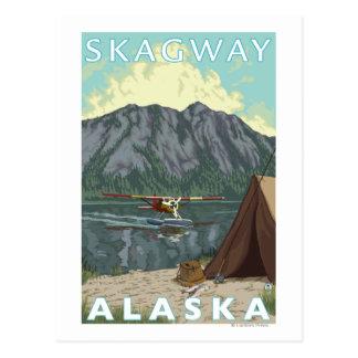 Carte Postale Avion de Bush et pêche - Skagway, Alaska