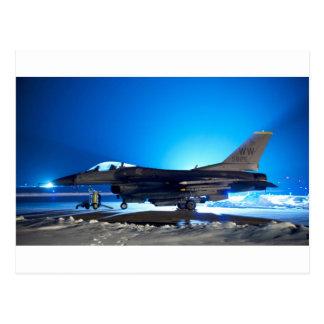 Carte Postale avion de chasse F-16