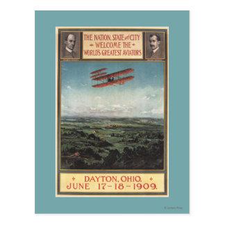 Carte Postale Avion de frères de Wright