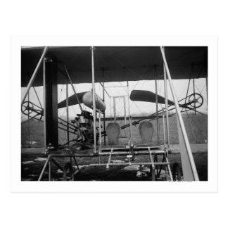 Carte Postale Avion de frères de Wright avec le pilote et
