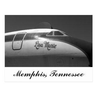 Carte Postale Avion Memphis Tennessee de Lisa Marie