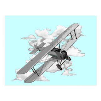 Carte Postale Avion vintage