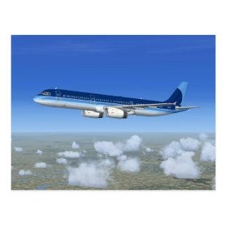 Carte Postale Avions d'avion de ligne du jet A321