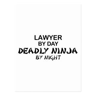 Carte Postale Avocat Ninja mortel par nuit