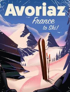 Carte Postale Avoriaz Affiche Francaise De Voyage Ski