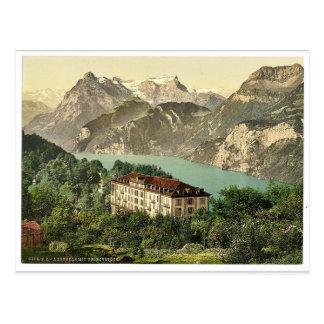 Carte Postale Axenfels, vue générale, luzerne de lac, Suisse
