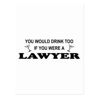 Carte Postale Ayez besoin d'une boisson - avocat