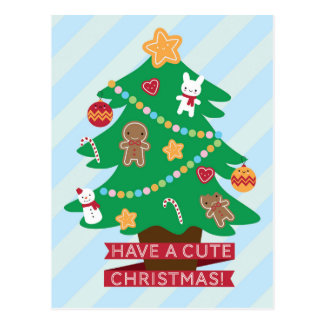 Carte Postale Ayez Noël mignon
