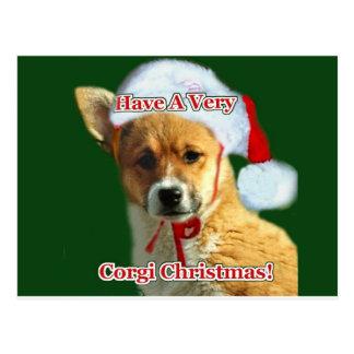 Carte Postale Ayez très une pitié de Noël de corgi