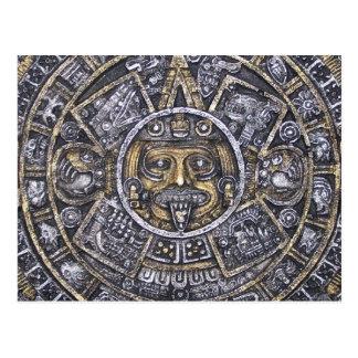 Carte postale aztèque de calendrier de /Mayan Sun