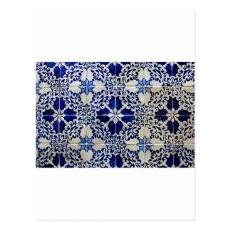 Carte Postale Azulejos, Portuguese Tiles