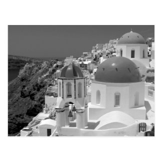 Carte Postale B&W Santorini 2