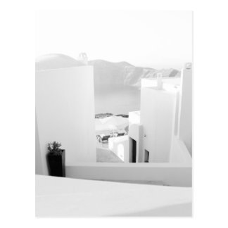 Carte Postale B&W Santorini 7
