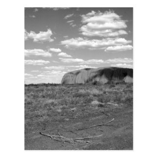 Carte Postale B&W Uluru 2