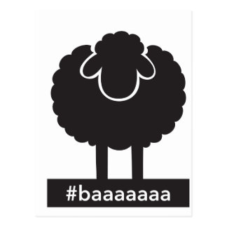 Carte Postale #baaaaa de moutons noirs
