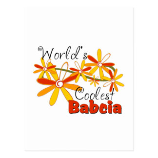 Carte Postale Babcia le plus frais du monde floral