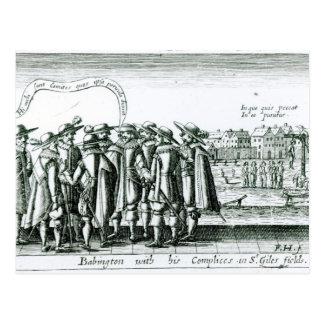Carte Postale Babington avec son Complices à St Giles