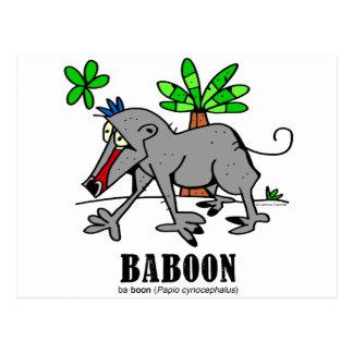 Carte Postale Babouin par Lorenzo