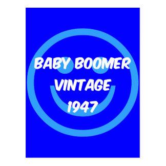 Carte Postale baby boomer 1947