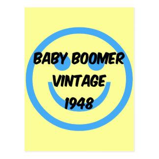 Carte Postale baby boomer 1948