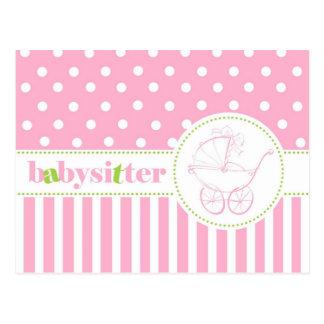 Carte Postale Babysitter d'Andrea