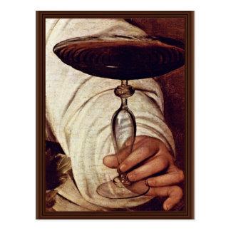 Carte Postale Bacchus, détail par Michaël Angelo Merisi DA