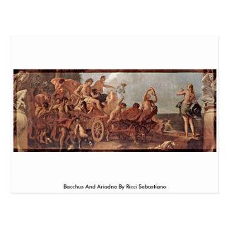 Carte Postale Bacchus et Ariadne par Ricci Sebastiano