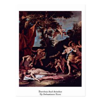 Carte Postale Bacchus et Ariadne par Sebastiano Ricci