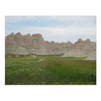 Carte Postale Bad-lands dans le Dakota du Sud