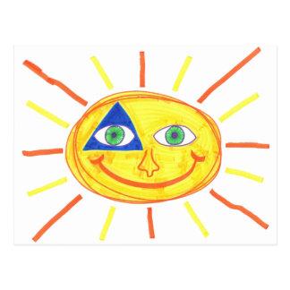 Carte Postale Badass Sun