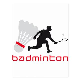 Carte Postale badminton