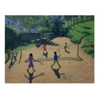 Carte Postale Badminton Coonoor Inde