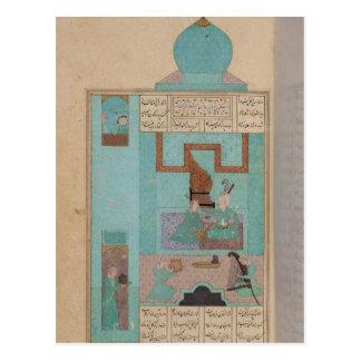 Carte Postale Bahram rend visite à une princesse dans la