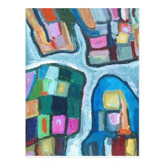 Carte Postale Baie cellulaire colorée (expressionisme abstrait)