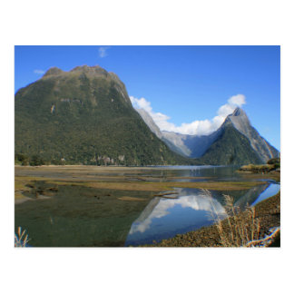 Carte Postale Baie de Milford Sound, crête de mitre, Nouvelle