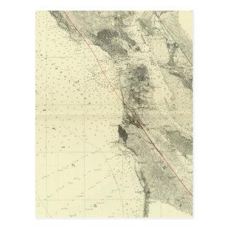 Carte Postale Baie de San Franciso montrant la crevasse de San