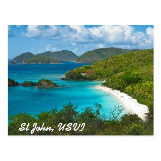 Carte Postale Baie de tronc, St John USVI