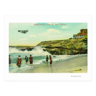 Carte Postale Baigner la scène à La Jolla BeachSan Diego, CA