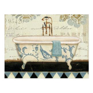 Carte Postale Baignoire française vintage