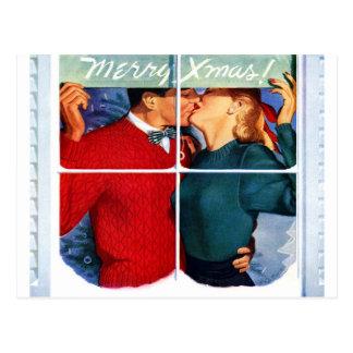 Carte Postale Baiser de Noël