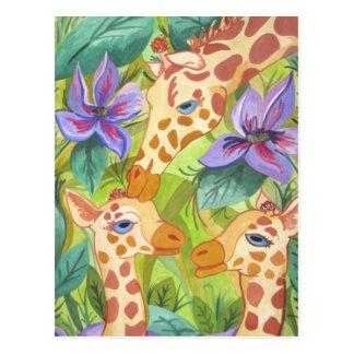 Carte Postale Baisers africains de girafe (art de Kimberly