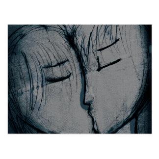 Carte Postale baisers de couples, romantiques