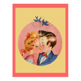 Carte Postale Baisers des couples