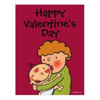 Carte Postale Baisers roses de rouge à lèvres de grand-maman