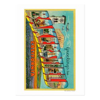 Carte Postale Bakersfield, la Californie - grandes scènes de