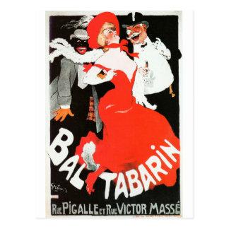 Carte Postale BAL vintage de cabaret de la vie de nuit de Paris