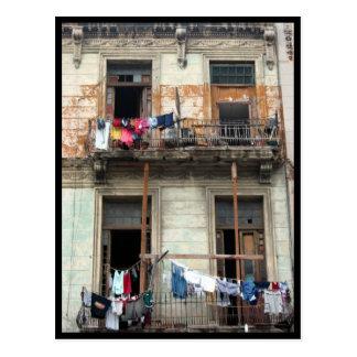 Carte Postale balcons de la Havane