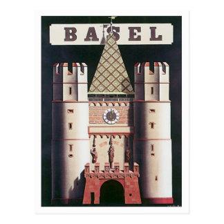 Carte Postale Bâle vintage Suisse