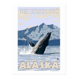 Carte Postale Baleine de bosse - Pétersbourg, Alaska