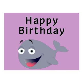 Carte Postale Baleine d'un moment - joyeux anniversaire
